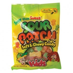 SOUR PATCH KIDS PEG BAG 5 OUNCES 12 COUNT by SOUR PATCH KIDS PEG BAG 5 OUNCES 12 COUNT