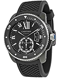 Calibre de Cartier Diver Automatic Black Dial Black Rubber Divers Mens Watch WSCA0006