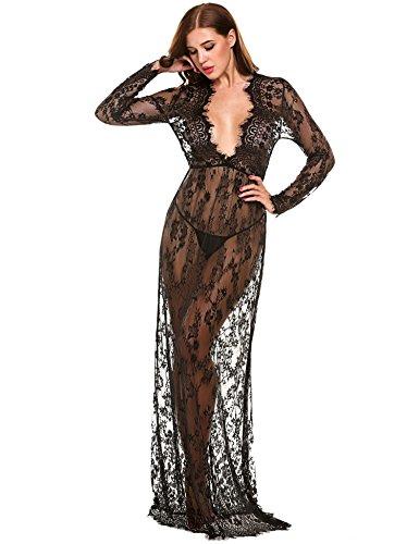 Buy black lace dress china - 3
