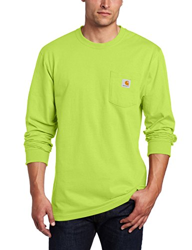 Carhartt Men's Workwear Midweight Jersey Pocket Long-Sleeve T-Shirt K126, Sour Apple, 2X-Large