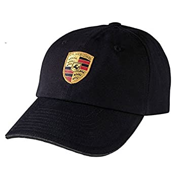 13e927f3 Porsche Black Crest Logo Cap, Official Licensed: Amazon.co.uk: Car &  Motorbike