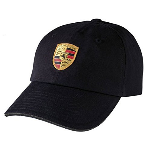 Porsche Black Crest Logo Cap, Official ()