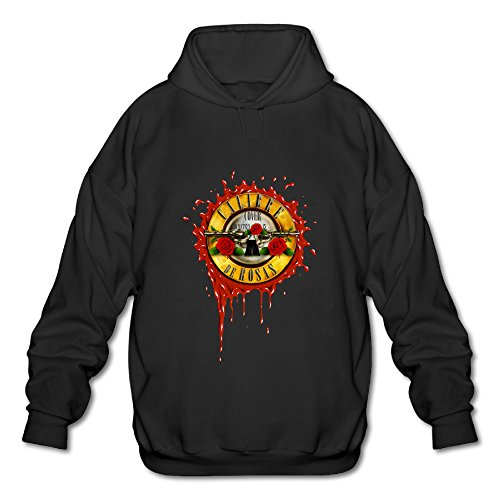 [BOOMY Guns N' Roses Man's Hoodie Sweatshirt SIZE S] (Out Of Your League Costumes)