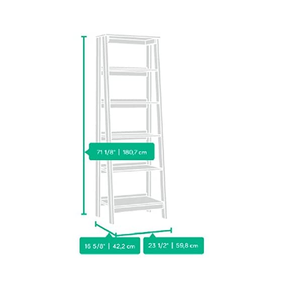 Sauder Trestle 5 Shelf Bookcase, Jamocha Wood finish - Open storage holds books, photos, collectibles, and more. Finished on all sides for versatile placement. Jamocha Wood finish. - living-room-furniture, living-room, bookcases-bookshelves - 41R1ebsmIpL. SS570  -