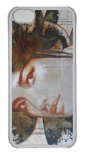 Customized iphone 5C PC Transparent Case - Woman Portrait Graffiti Personalized Cover