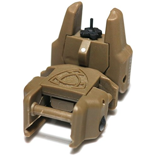 Airsoft Wargame Tactical Shooting Gear APS GG038D Rhino Auxiliary Flip Up Front Sight Desert Tan Brown by Airsoft Storm
