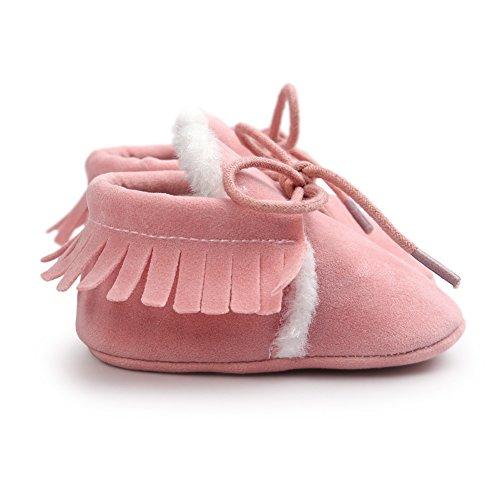 Leap Frog Winter Fashion Moccasins - Patucos de Ante para niño Rosa