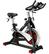 JOROTO Belt Drive Indoor Cycling Bike with Magnetic Resistance Exercise Bikes Stationary ( 300 Lb...