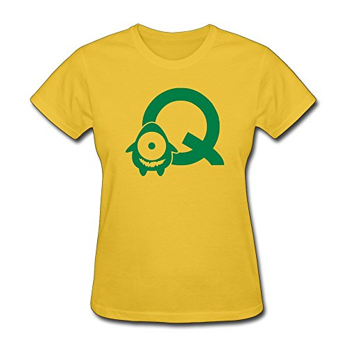 Vansty Monster Q Mono Silm T-Shirt For Women Yellow Size XL