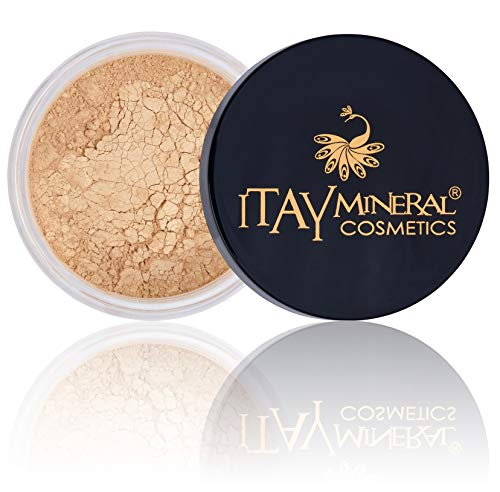 Itay Loose Powder Foundation Travel Size Foundation - All Natural Mineral Makeup By Itay Mineral Cosmetics (MF5 - Dulce Del Leche)