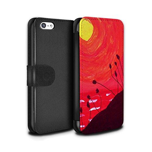 Stuff4 Coque/Etui/Housse Cuir PU Case/Cover pour Apple iPhone 5C / Rouge Design / Peinture Huile Coucher Collection