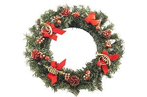 Pine Wreath With Instruments