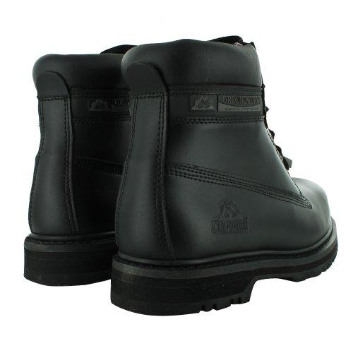 Footwear Sensation - Herren Groundwork Schnür Stahlkappen Sicherheits Knöchelstiefel 41 - 45 Schwarz