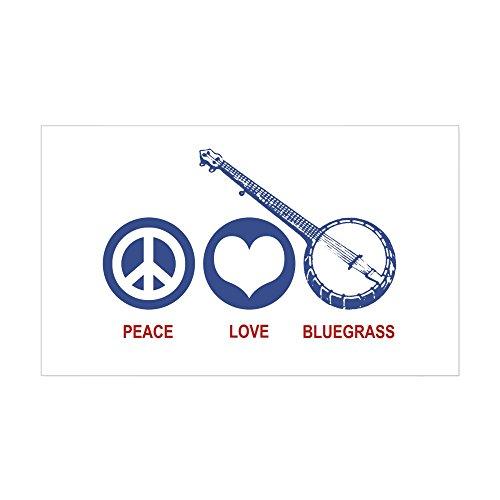 - CafePress Peace Love Bluegrass Rectangle Sticker Rectangle Bumper Sticker Car Decal