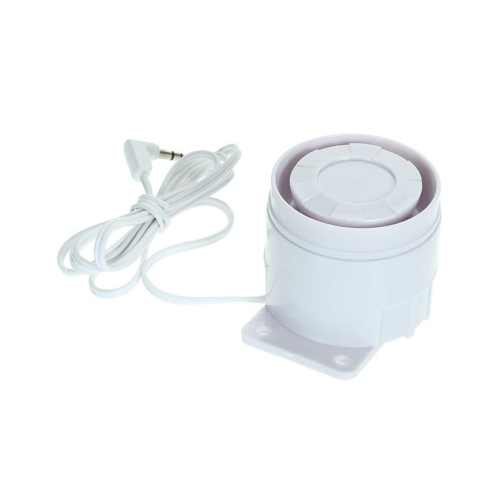 OWSOO Mini Sirena con Cable 110 dB 433MHz Alarma de Alerta Inmediata para Sistema de Alarma inalámbrico en Hogar