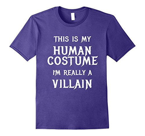 Mens I'm Really a Villain Halloween Costume Shirt Women Men Kids Medium Purple