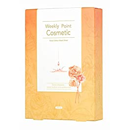 [Weekly Point Cosmetic Rose mask sheet] – Facial skin care mask sheet 3solutions(Wriklecare, Brighten up, Moisture) in one (1Pack of 10pcs)