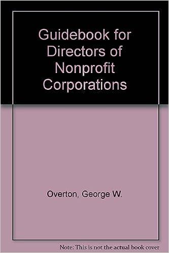 Guidebook for Directors of Nonprofit Corporations