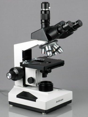 2000/x trinocular Compuesto biol/ógica microscopio AmScope t490b-led LED 40/x