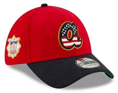 (New Era 2019 MLB Atlanta Braves Hat Cap July 4th Flag Logo 39Thirty 3930 (M/L))