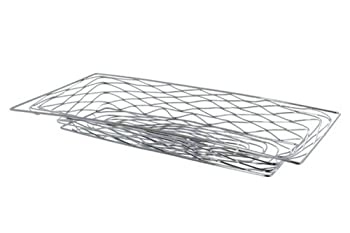 American Metalcraft BNBC33 Rectangular Birdnest Wire Basket, Medium, Chrome