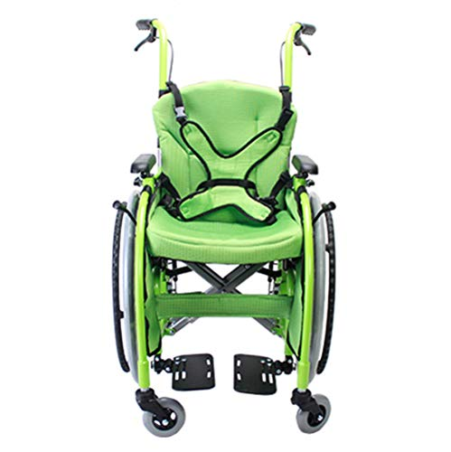Lightweight Folding Children's Wheelchair Driving Medical, Children's Wheelchair car Small Portable Disabled Trolley Trolley Child Manual Wheelchair