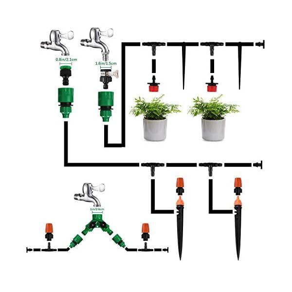 Kit per Irrigazione a Goccia,Emooqi Sistema Irrigazione, 40M DIY Kit di Micro Irrigazione Automatico Irrigazione Sistema… 5 spesavip