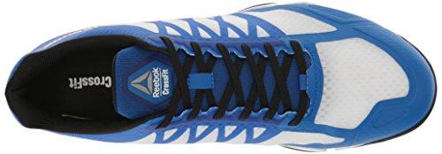Reebok Mens Crossfit Speed Tr Scarpa Cross-trainer Bianco / Nero / Blu / Peltro Impressionante