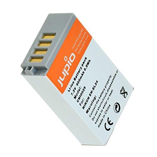 Jupio Digital Camera Replacement Battery for Nikon EN-EL24, Grey (CNI0025) by JUPIO