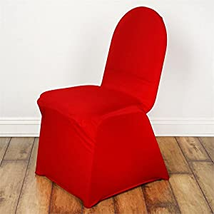 100 Red Spandex Chair Cover