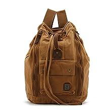 MeCool Men's Canvas Sling Daypack for Sports Rucksack Travel Camera School Backpack Laptop Bag