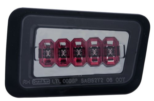 Hummer H2 Corner Lights (IPCW LEDT-343BPCS Platinum Smoke Rear Bumper Light - Pair)