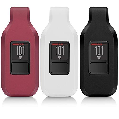 iBREK for Garmin Vivofit 3/jr/jr 2 Replacement Belt Clip for Kids Women Men(No Tracker)-3 Pack:Black&White&Burgundy