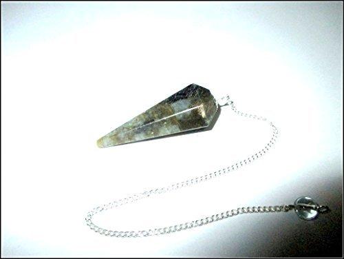 Jet Labradorite Pendulum Spiritual Energized