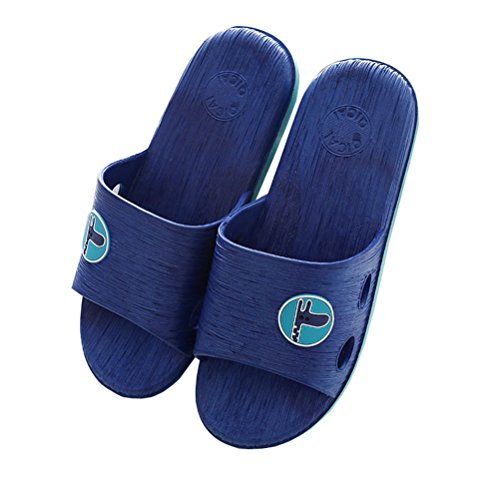 Always Pretty Unisex Summer Soft Comfortable Anti-Slip Home Slippers Shower and Bathroom Slippers Navy 3PcJEOyni
