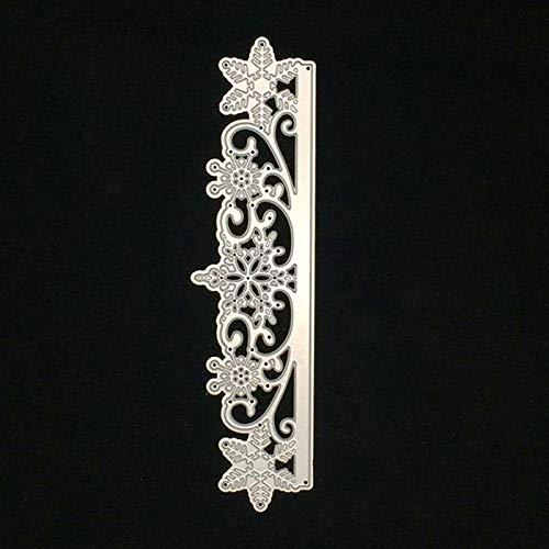 Christmas Snowflake Flower Leaves Dot Border Edge Lace Metal Cutting Dies Embossing Scrapbooking Paper Card Making Diy Decor Cutting Dies