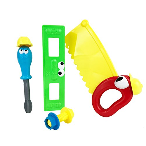 Boley Kids Tool Set - Pretend play toy tool set with cartoon faces and working parts (Set 1 of 3)