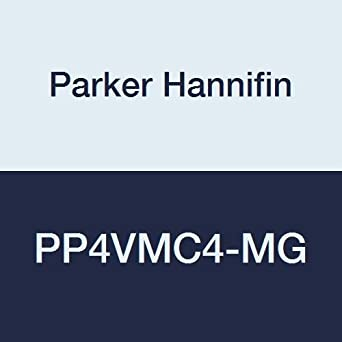 Parker Hannifin PP4VMC4-MG TrueSeal Polypropylene Male Connector Ball Valve 1//4 Push-to-Connect Tube x 1//4 Male NPTF