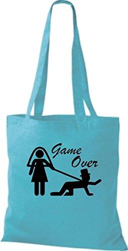 Tela Azul Bolso Para Sky Shirtstown Algodón De Mujer YcWFxxqBnH