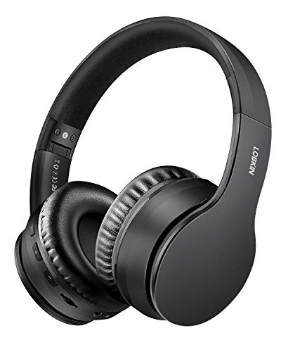 Wireless Bluetooth Headphones, Lobkin Over-Ear Stereo Foldable Headphones,Hi-Fi Stereo Headset With Microphone, Supports Hands-Free Calling and Wired Mode for Cell Phone TV PC Laptop (Black)