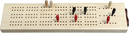 3-Hand Maple Cribbage Board - Made in USA by Maple Landmark