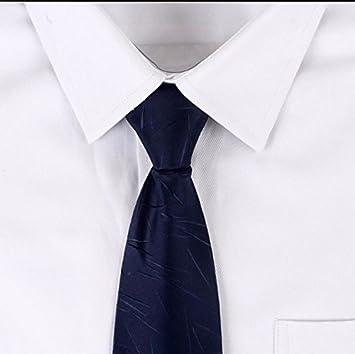 GENTLEE - Corbata de hombre con cremallera para negocios, diseño ...