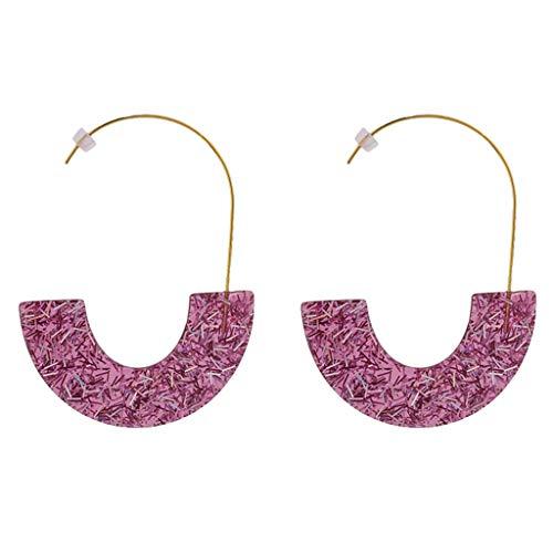 iNoDoZ Sequins Transparent Earrings,Women Semicircle Earring Acetate Board Acrylic Geometric Ladies Jewelry