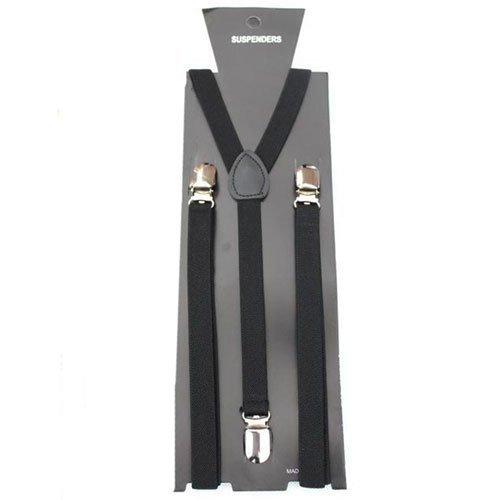 Herren/Damen Verstellbare Hosenträger uni 15mm breit Heavy Duty Strapse 15 mm breit Strumpfhalter
