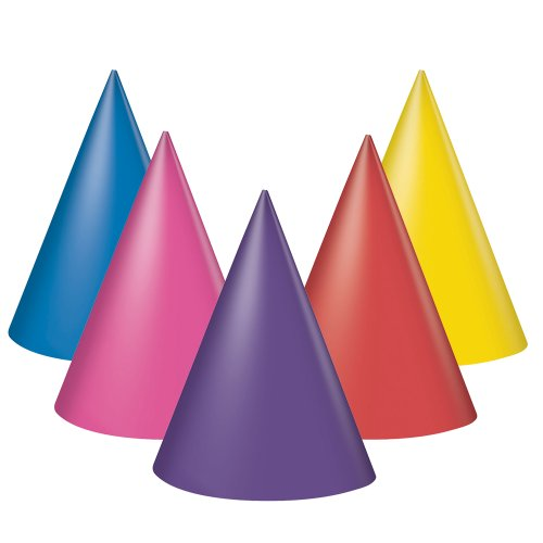 Party Hats, Assorted, 8 Count