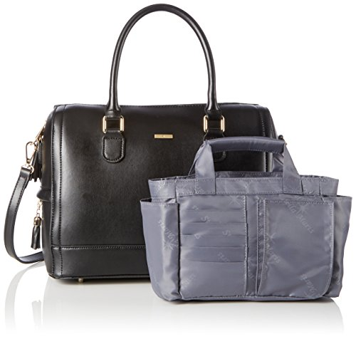 Stella Maris STMB604-01 - Bolso para mujer con organizador de bolsillo extraíble, color negro