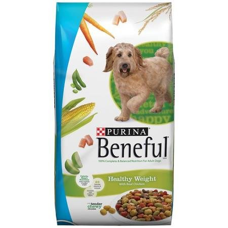 Beneful Dry Dog Food, Healthy Weight with Real Chicken, 40 lb Bag by Purina (Purina Dog Beneful Healthy)