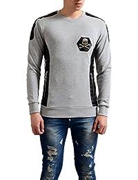 Homme Mens Gray Crewneck Swetshirt