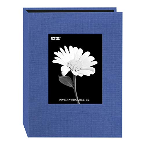 Pioneer Photo 24-Pocket Frame Cover Album for 5 by 7-Inch Prints, Sky Blue Fabric