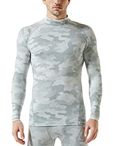 Tesla Men's Thermal WinterGear Compression Baselayer Mock Long Sleeve T Shirts YUT32 / YUZ47 / T32 / T42